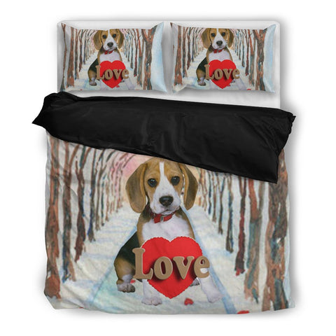 Valentine's Day SpecialBeagle Dog Print Bedding Set