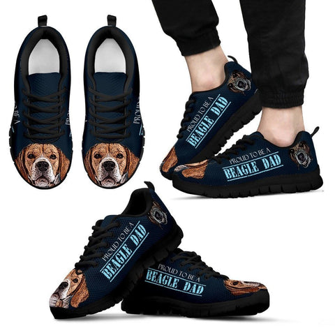 'Proud To Be A Beagle Dad' Sneakers For Men Father's Day Special