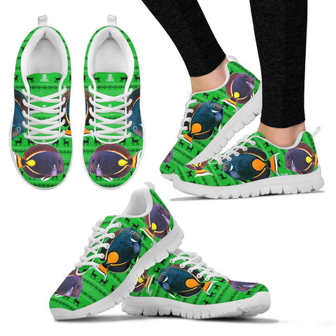 Acanthurus Achilles(Achilles Tang) Fish Print Christmas Running Shoes For Women
