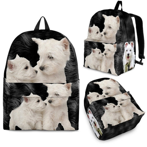 West Highland White Terrier Print BackPack Express Shipping