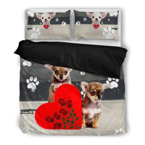 Valentine's Day SpecialChihuahua Dog Print Bedding Set