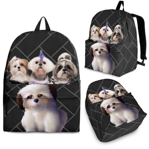Shih Tzu Dog Print BackpackExpress Shipping