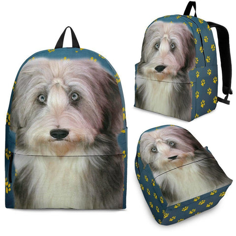 Bearded Collie Print Backpack Express Shipping