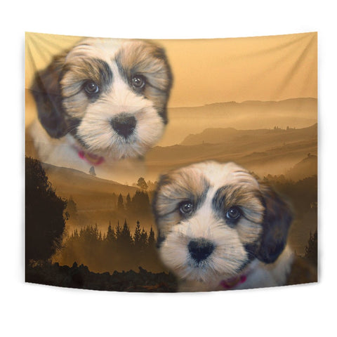 Amazing Shih Tzu Dog Print Tapestry
