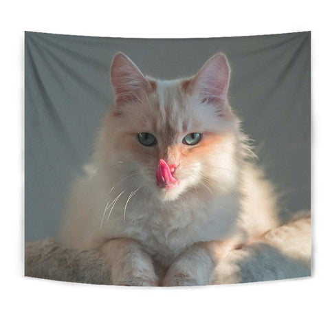 Cute Birman Cat Print Tapestry