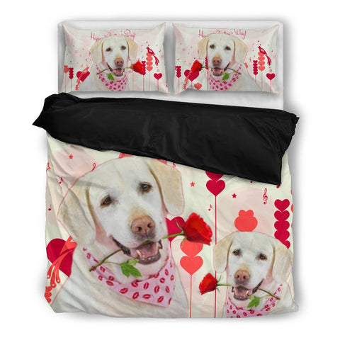 Valentine's Day Special Labrador Retriever Print Bedding Set