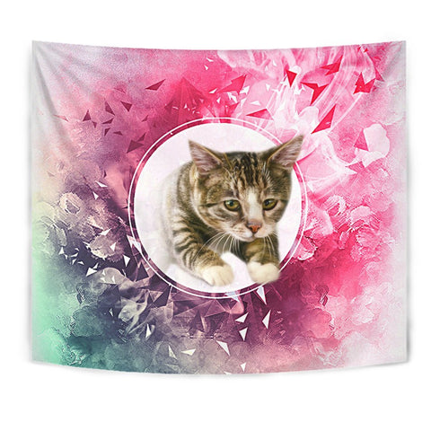 Amazing American Shorthair Cat Print Tapestry