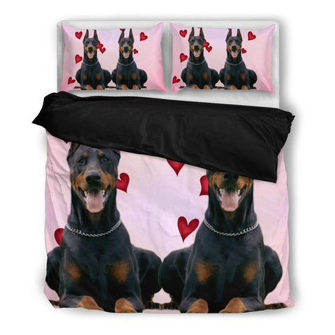 Valentine's Day SpecialDoberman Pinscher Print Bedding Set