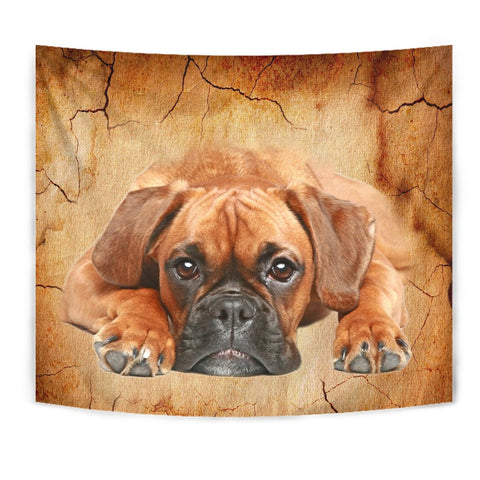 Boxer Dog Print Tapestry