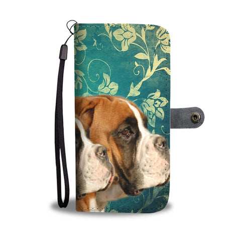 Amazing Boxer Dog Print Wallet Case