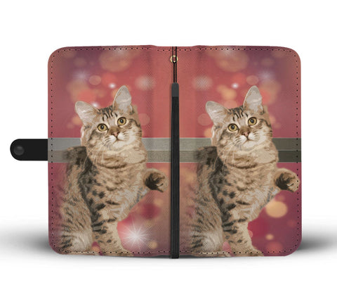 Amazing American Bobtail Cat Print Wallet Case