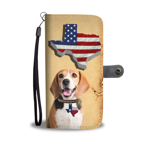 Amazing Beagle Print Wallet CaseTX State
