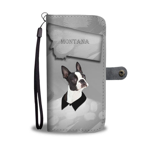 Amazing Boston Terrier Print Wallet CaseMT State