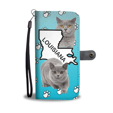 Amazing British Shorthair Cat Print Wallet CaseLA State