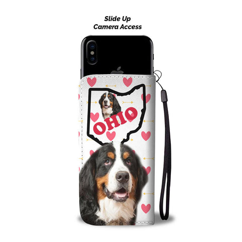 Amazing Bernese Mountain Dog Print Wallet CaseOH State