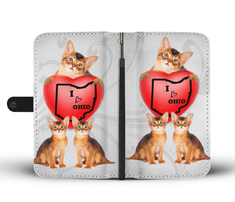 Abyssinian Cat Print Wallet CaseOH State