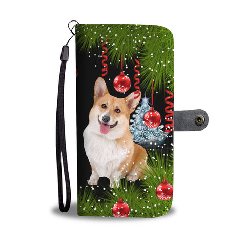 Amazing Cardigan Welsh Corgi Dog Christmas Print Wallet Case