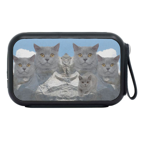 British Shorthair Cat Mount Rushmore Print Bluetooth Speaker