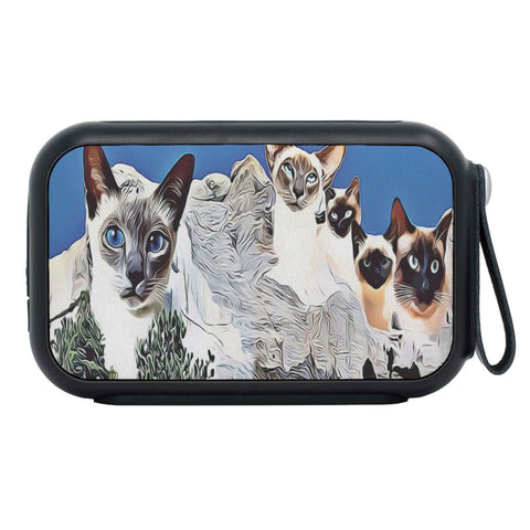 Siamese Cat Mount Rushmore Print Bluetooth Speaker