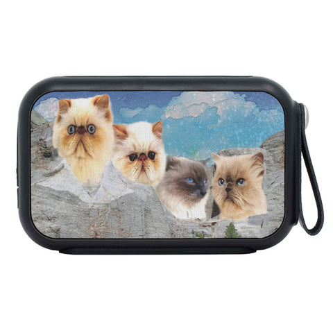 Himalayan Cat On Mount Rushmore Print Bluetooth Speaker