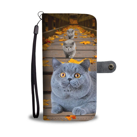 Amazing British Shorthair Cat Print Wallet Case
