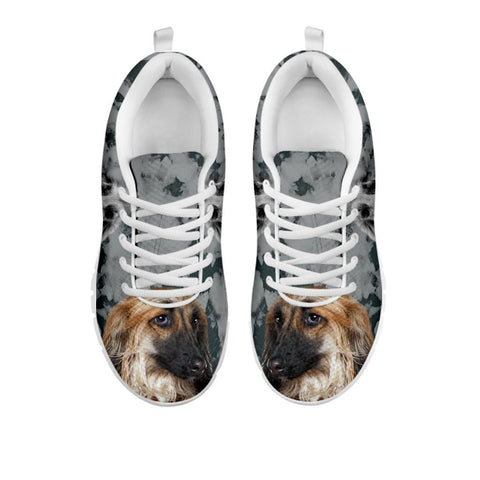 Amazing Afghan Hound Black White Dog Print Running Shoes For WomenFor 24 Hours Only