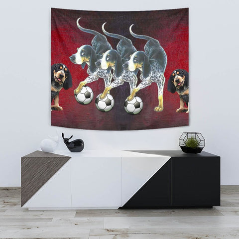 Amazing Bluetick Coonhound Dog Print Tapestry