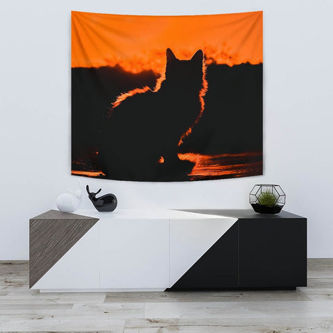 Amazing Cat Shadow Print Tapestry