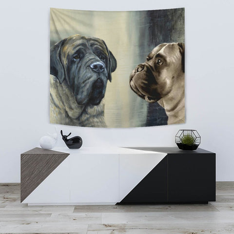 Amazing English Mastiff Print Tapestry