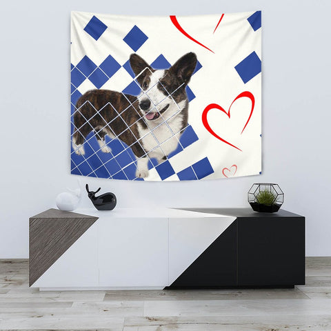 Amazing Cardigan Welsh Corgi Print Tapestry