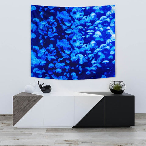 Amazing Jelly Fish Print Tapestry