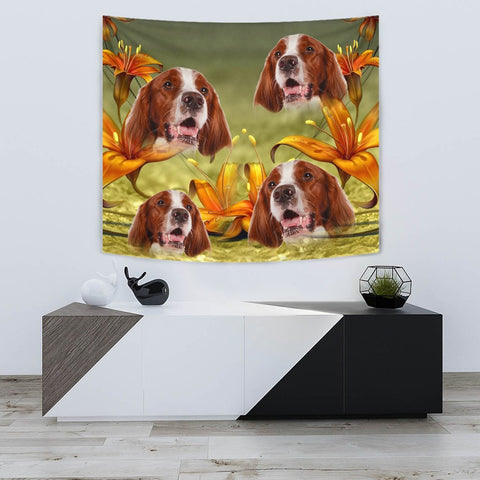 Amazing Irish Red and White Setter Print Tapestry
