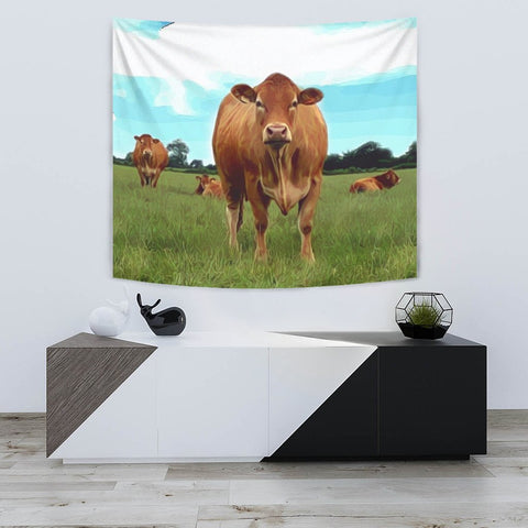 Angus cattle (Cow) Print Tapestry