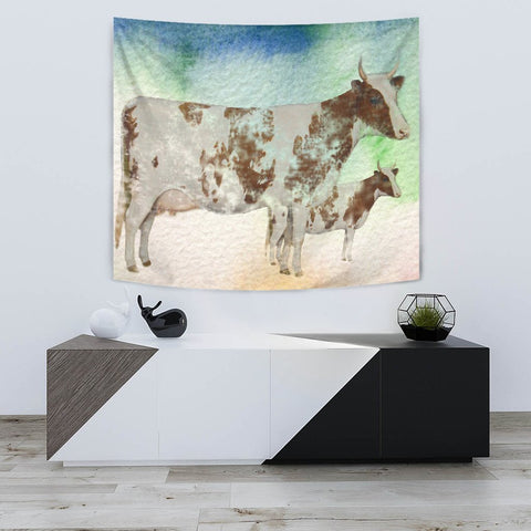 Amazing Ayrshire Cattle (Cow) Art Print Tapestry