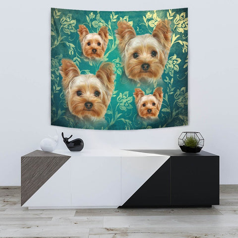 Amazing Yorkshire Terrier Print Tapestry