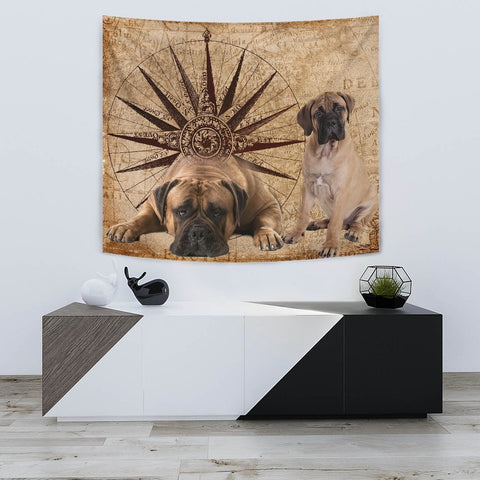 Amazing Bullmastiff Dog Print Tapestry