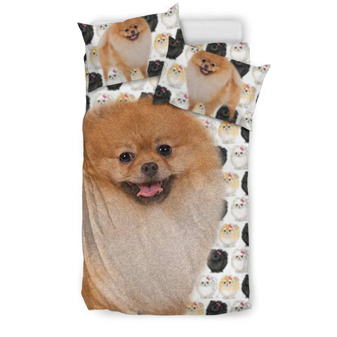 Pomeranian Dog Patterns Print Bedding Set