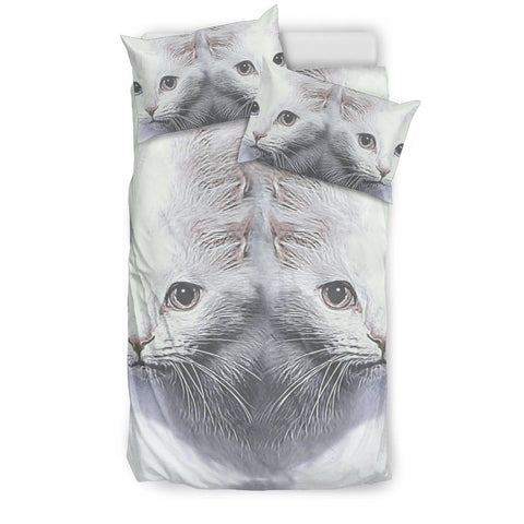 Turkish Angora Cat Print Bedding Set