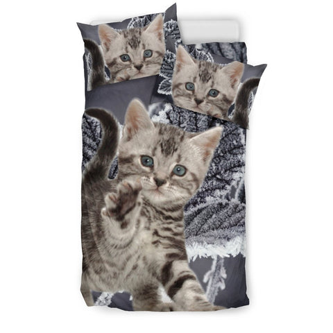 American Bobtail Cat Print Bedding Set