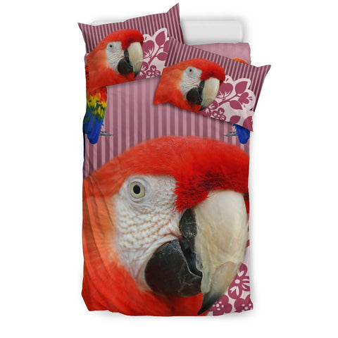 Scarlet Macaw Parrot Print Bedding Sets