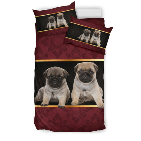 Pug Puppies Print Bedding Sets