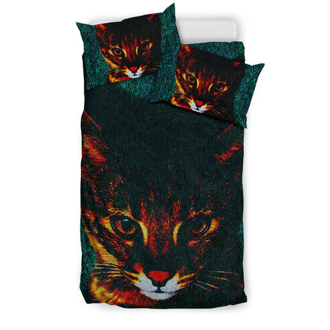 Amazing Savannah Cat Print Bedding Set