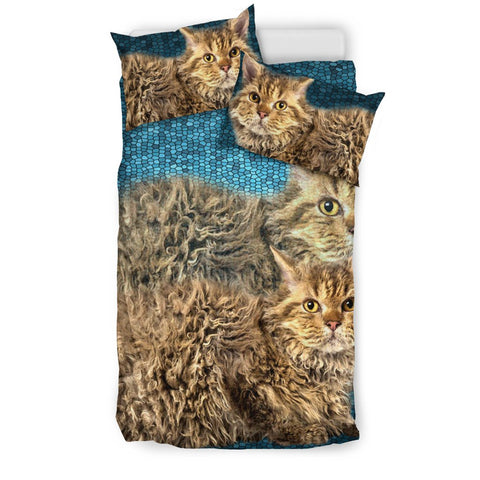 Amazing Selkirk Rex Cat Print Bedding Set