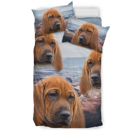 Redbone Coonhound Dog Print Bedding Set