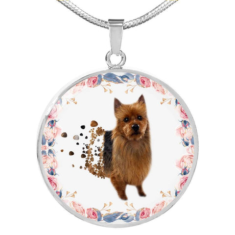 Amazing Australian Terrier Print Circle Print Luxury Necklace
