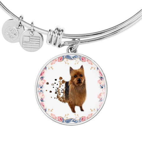 Amazing Australian Terrier Print Circle Print Luxury Bangle