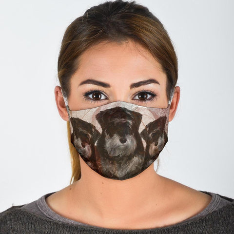 Giant Schnauzer Print Face Mask