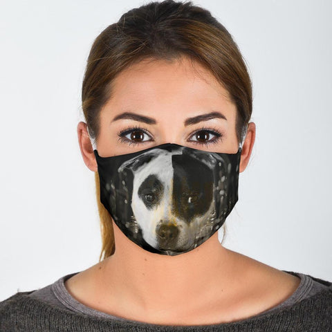 Cute Staffordshire Bull Terrier Print Face Mask