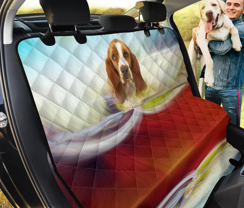 Basset Hound Print Pet Seat Covers