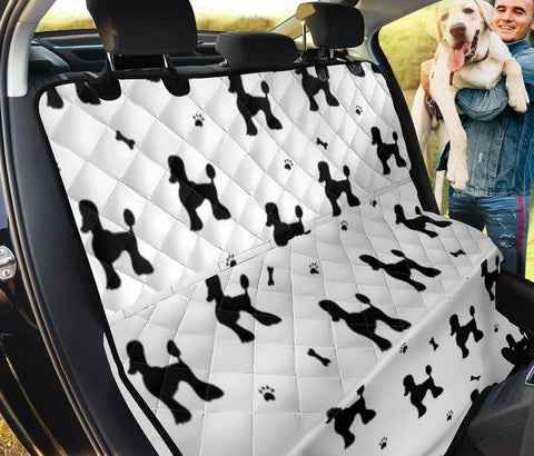 Poodle Black White Patterns Print Pet Seat Covers